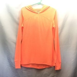 Old Navy Active Size M Orange Hooded Shirt